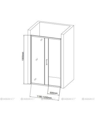 Дверь для душа Акванет/Aquanet SD-1200A 120 120х190 00209406 (прозрачное стекло)