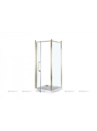 Душевой уголок Акванет/Aquanet Beta Cube Classic NBB1221 100x100 L 184915 (прозрачное стекло, левый)