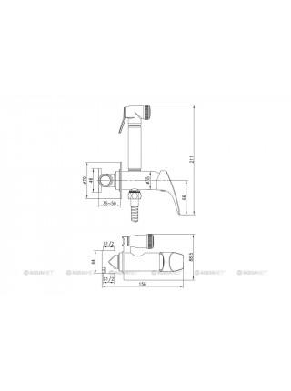 Комплект для гигиенического душа Акванет/Aquanet Atletic AF310-52С 225485 (хром глянец)