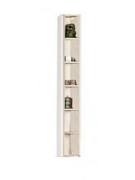 Шкаф-колонна Акватон Йорк 17 см. 1A171103YOB50 (выбеленное дерево, подвесная, открытая)