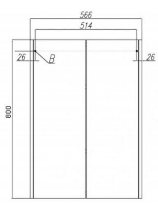 Шкаф подвесной Акватон Йорк 56 см. 1A171303YOAY0 (белый-выбеленное дерево, подвесной, двухстворчатый)