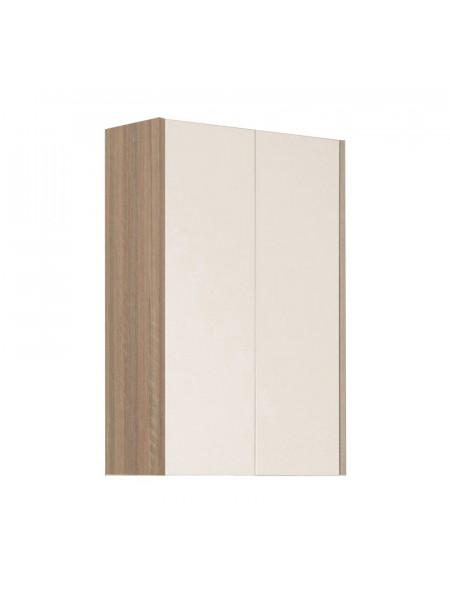Шкаф подвесной Акватон Йорк 56 см. 1A171303YOAD0 (белый-дуб сонома, подвесной, двухстворчатый)