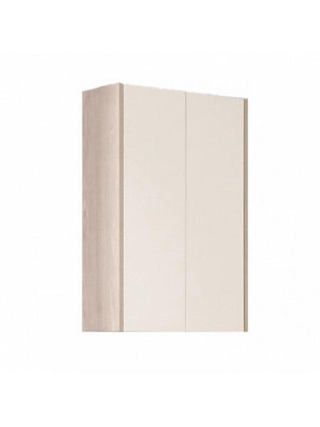 Шкаф подвесной Акватон Йорк 56 см. 1A171303YOAV0 (белый-ясень фабрик, подвесной, двухстворчатый)