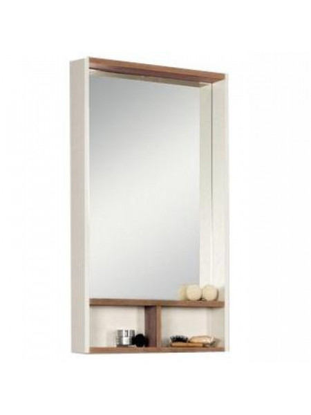 Зеркало-шкаф Акватон Йорк 50 50 см. 1A170002YOAT0 (бежевое-джарра)