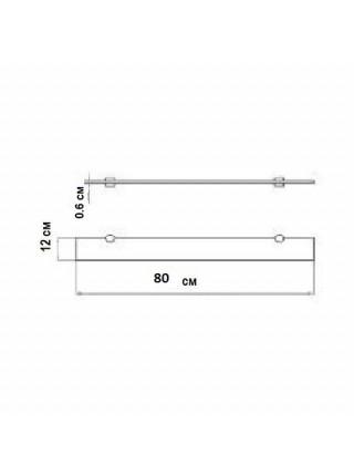 Полка стеклянная Акватон Ария 80 80 см. 1A144603AA010