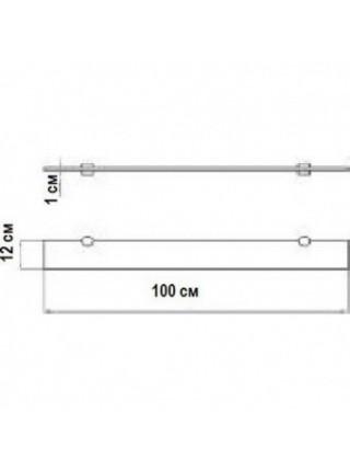 Полка стеклянная Акватон 100 100 см. 1A121903TU780 (серебристая)