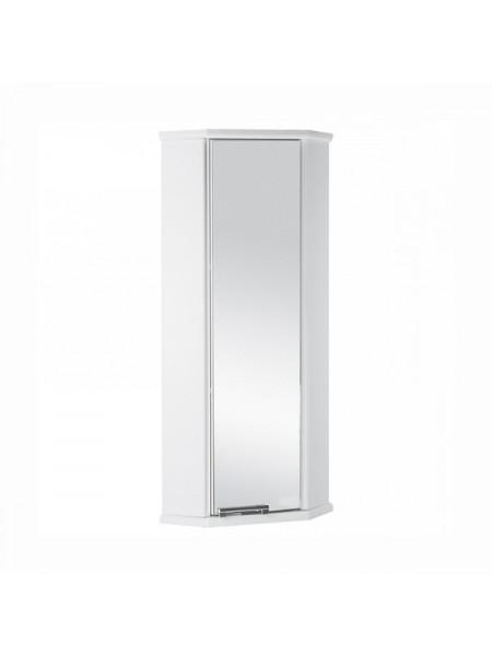 Шкаф подвесной угловой Акватон Призма М 28х28 см. 1A004203PZ01L (белый, левый, одностворчатый)