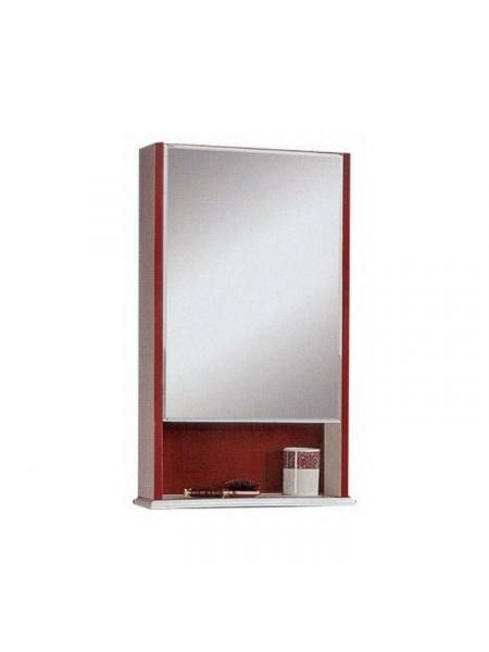 Зеркало-шкаф Акватон Роко 46 см. 1A107002RO01L (белый-бордо, левое)