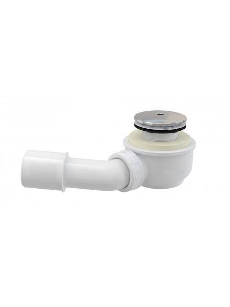 Сифон для душевого поддона AlcaPlast A471CR-50 Ø50 мм (внешние части пластик, хром глянец, плоский)