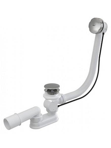 Слив-перелив для ванной AlcaPlast A55KM (полуавтомат, внешние части металл, хром глянец)