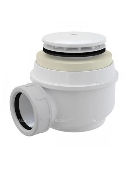 Сифон для душевого поддона AlcaPlast A47B-50 Ø50 мм (внешние части пластик, белый)