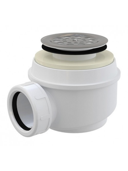 Сифон для душевого поддона AlcaPlast A46-50 Ø50 мм (внешние части металл, хром глянец)