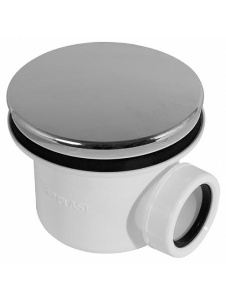 Сифон для душевого поддона AlcaPlast A49CR Ø90 мм (внешние части пластик, хром глянец)