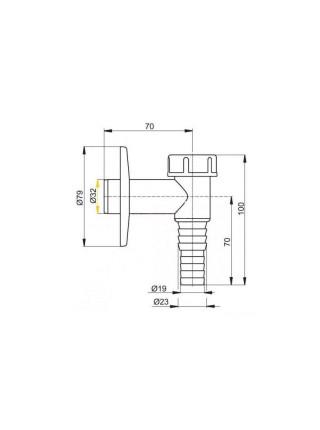 Сифон для стиральной машины AlcaPlast APS1 (хром глянец)