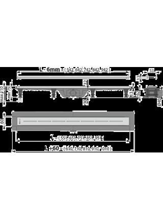 Душевой лоток AlcaPlast APZ18-750M 75 см. (нержавеющая сталь)