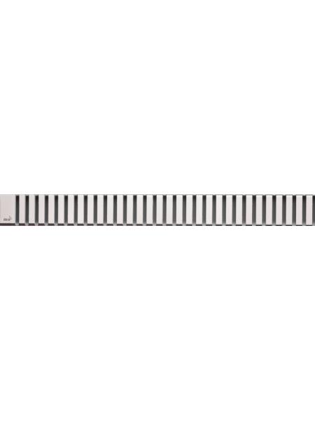 Дизайн решетка AlcaPlast Line-300L 30 см. (нержавеющая сталь, глянец)
