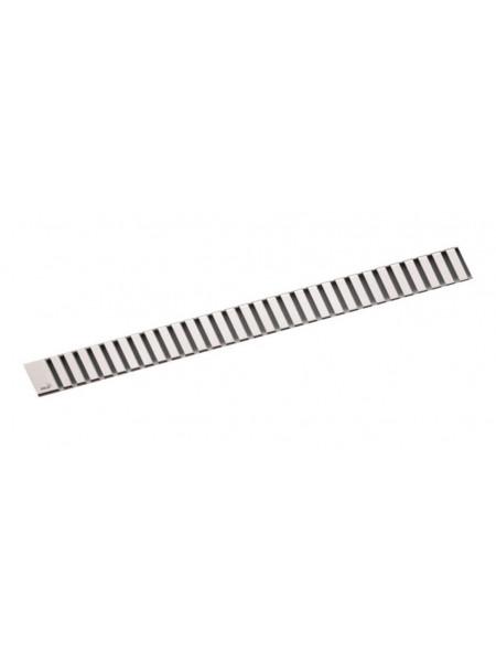Дизайн решетка AlcaPlast Line-300M 30 см. (нержавеющая сталь, матовая)