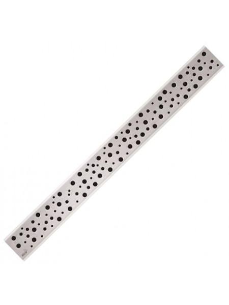 Дизайн решетка AlcaPlast Buble-550M 55 см. (нержавеющая сталь, матовая)