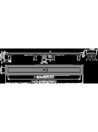 Душевой лоток AlcaPlast APZ2012-650 Optimal 65 см. (c опорами, без решетки и без сифона)