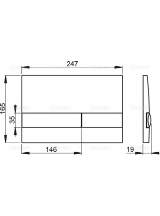 Клавиша смыва AlcaPlast M1710 (белая)
