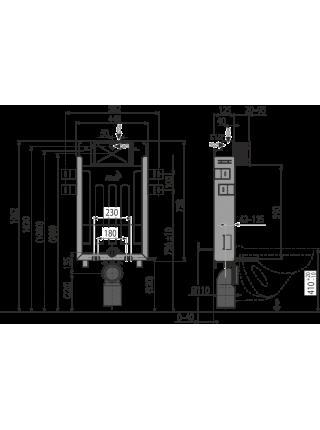 Смывной бачок скрытого монтажа AlcaPlast AM115/1000E Renovmodul