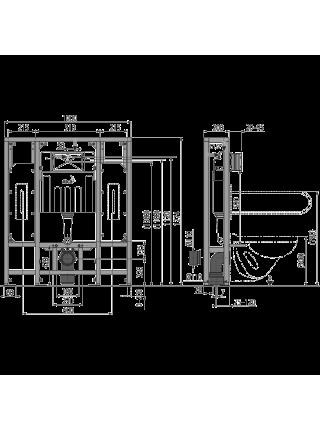 Инсталляция для подвесного унитаза AlcaPlast AM116/1300H Solomodul (для людей с ограниченными возможностями)
