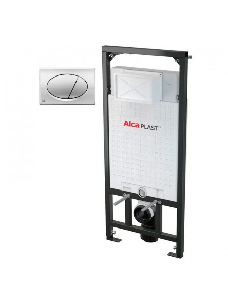 Инсталляция для подвесного унитаза AlcaPlast Sadromodul 3 in 1 AM101/1120+M71 (клавиша хром)