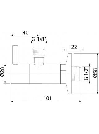 Угловой вентиль AlcaPlast ARV001-Antic (бронза-антик)
