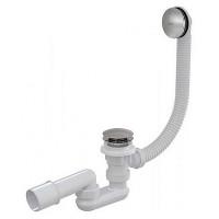 Слив-перелив для ванной AlcaPlast A504KM (автомат (click-clak), внешние части металл, хром глянец)
