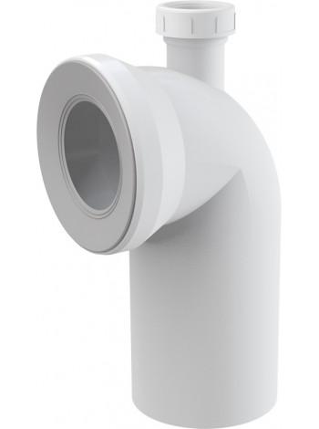 Фановый отвод для унитаза AlcaPlast A90-90P40 DN40-90° (белый, с дополнительным отводом)