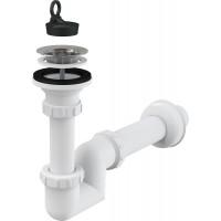 Сифон для раковины AlcaPlast A412-DN40 DN40 (белый, плоский)