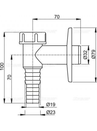 Сифон для стиральной машины AlcaPlast APS2 (белый)
