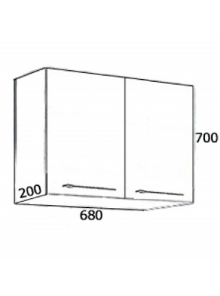 Шкаф навесной Астра-Форм Соло 70 200х700 мм. (белый глянец)