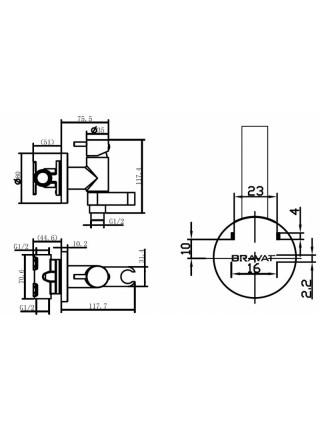 Комплект для гигиенического душа Bravat Eler D9137CP-RUS
