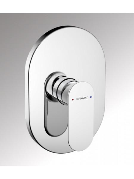 Смеситель для ванны Bravat Gina PB865104CP-ENG (хром глянец, внешняя часть, скрытого монтажа)