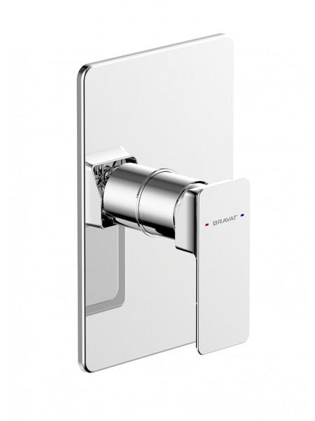Смеситель для ванны Bravat Phillis PB856101CP-ENG (хром глянец, внешняя часть, скрытого монтажа)