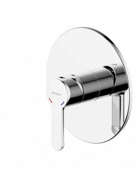 Смеситель для ванны Bravat Stream PB83783CP-ENG (хром глянец, внешняя часть, скрытого монтажа)