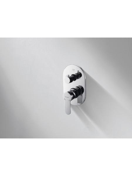 Смеситель для ванны Bravat Stream P69191C (хром глянец, внешняя часть, скрытого монтажа)