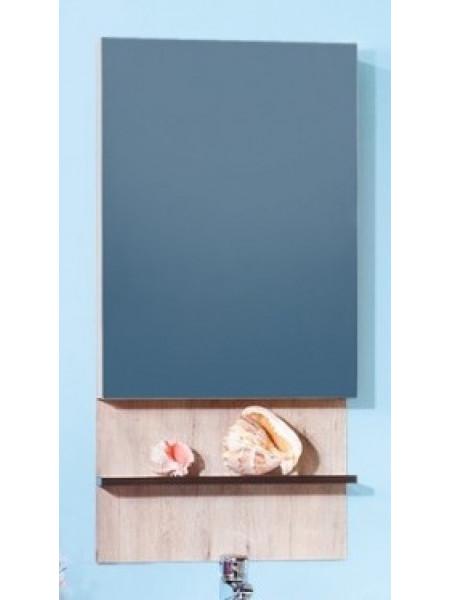 Зеркало-шкаф Бриклаер Карибы 50 50 см. (дуб кантри-венге)