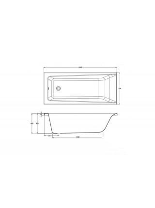 Ванна акриловая Cersanit Lorena 160 WP-LORENA*160 160х70