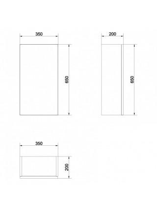 Шкаф Cersanit Smart 35 SW-SMA/Gr 35 см. (серый-ясень, подвесной)