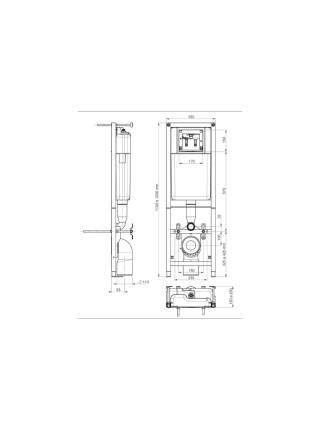 Комплект инсталляция Cersanit Delfi Leon 5 в 1 S-SET-DELFI/Leon/Cg-w)