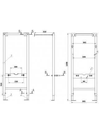 Комплект инсталляция Cersanit Delfi Vector Actis slim (S-SET-DEL/Vec/S-DL/Ac-Cg-w)