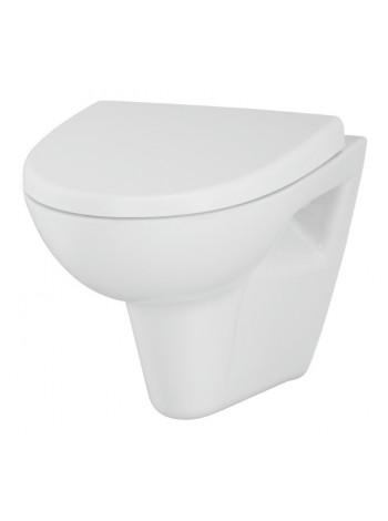 Унитаз подвесной Cersanit Parva new Clean MZ-PARVA-COn-DL (безободковый, микролифт)