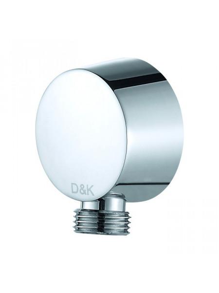 Шланговое подключение D&K DC1004894 (хром глянец)
