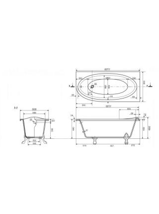Ванна из искусственного камня Эстет Венеция 170 170х80 см. (ФР-00002045) (правая)