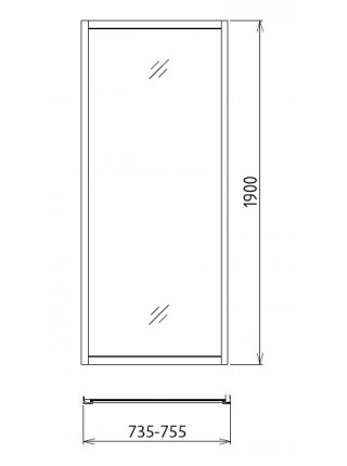 Боковая стенка Gemy A75