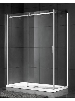 Душевой уголок Gemy Modern Gent S25151 L 150х80 (хром, прозрачное стекло)
