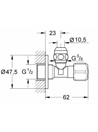 Угловой вентиль Grohe 2201700M (22017 00M) (1/2*3/8)