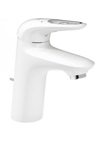 Смеситель для раковины Grohe Eurostyle New 33558LS3 (белый, с донным клапаном)